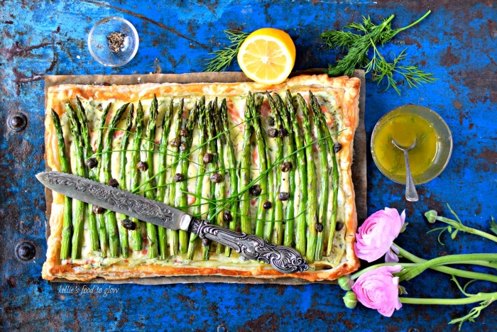 A light, easy lunch recipe that is perfect for Mother's Day, Easter, the kitchen table, or even a picnic. Fresh spring herbs and a caper dressing make this a little bit special. If you are vegetarian, why not sauté mushrooms and add to the filling instead of the seafood?